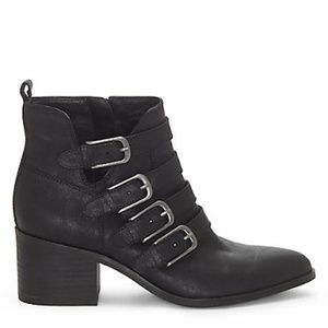 LUCKY BRAND Loreniah Buckle Leather Ankle Booties